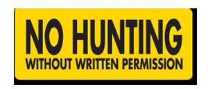 YHM002 No Hunting W:O
