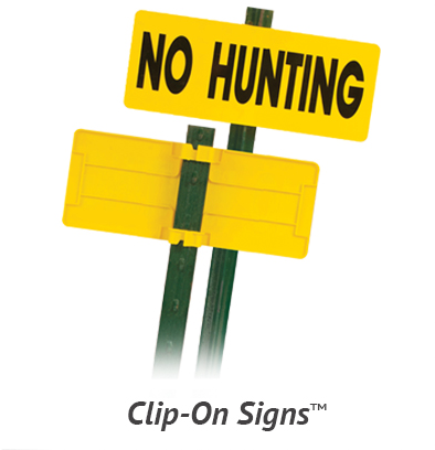 Clip-on property signs