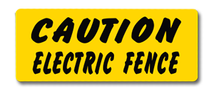 YHM008 Caution Electric Fence copy