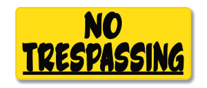 YHM009 No Trespassing_original
